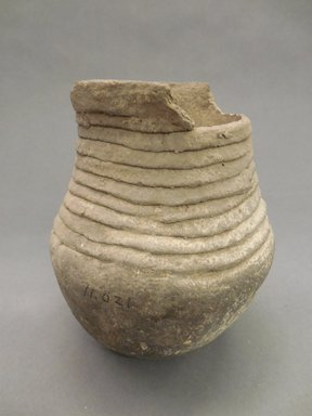 Ancient Pueblo (Anasazi). <em>Jar</em>, 800-900, Pueblo I. Clay, 6 1/4 x 5 in. 915.9 x 12.7 cm). Brooklyn Museum, Museum Expedition 1903, Purchased with funds given by A. Augustus Healy and George Foster Peabody, 03.325.11021. Creative Commons-BY (Photo: Brooklyn Museum, CUR.03.325.11021.jpg)