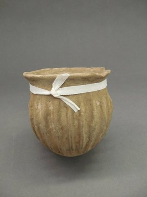 Ancient Pueblo (Anasazi). <em>Jar</em>, Probably 900-1100, Pueblo II. Clay, 3 5/8 x 4 1/8 in. (9.2 x 10.5 cm). Brooklyn Museum, Museum Expedition 1903, Purchased with funds given by A. Augustus Healy and George Foster Peabody, 03.325.11028. Creative Commons-BY (Photo: Brooklyn Museum, CUR.03.325.11028.jpg)