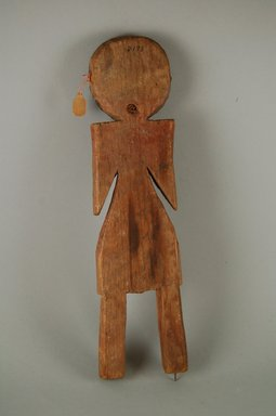 She-we-na (Zuni Pueblo). <em>Doll (Tsem-chi-ha)</em>. Wood, pigment, resinous material, 12 13/16 x 3 1/8 x 13/16in. (32.6 x 8 x 2cm). Brooklyn Museum, Museum Expedition 1903, Museum Collection Fund, 03.325.3198. Creative Commons-BY (Photo: Brooklyn Museum, CUR.03.325.3198_front.jpg)