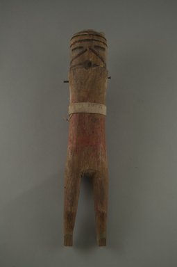 She-we-na (Zuni Pueblo). <em>Kachina Doll (wi-ha)</em>, 19th century. Wood, cloth, nails, cotton?, 10 1/16 x 1 15/16 in.  (25.5 x 5 cm). Brooklyn Museum, Museum Expedition 1903, Museum Collection Fund, 03.325.3201. Creative Commons-BY (Photo: Brooklyn Museum, CUR.03.325.3201_front.jpg)