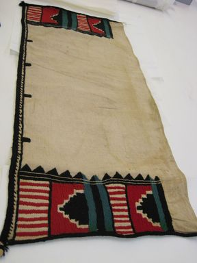 She-we-na (Zuni Pueblo). <em>Rectangular Kilt (Pi-lsan-tsin-as-ya-la)</em>, late 19th century. Cotton, wool yarn, 30 1/2 x 18 in. (98 x 45 cm). Brooklyn Museum, Museum Expedition 1903, Museum Collection Fund, 03.325.3384. Creative Commons-BY (Photo: , CUR.03.325.3384.jpg)