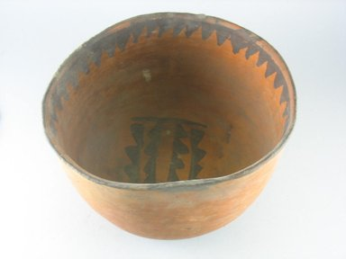 Navajo. <em>Bowl (Tetsa)</em>. Pottery, (17.0 x 26.5 cm). Brooklyn Museum, Museum Expedition 1903, Museum Collection Fund, 03.325.3790. Creative Commons-BY (Photo: Brooklyn Museum, CUR.03.325.3790_view1.jpg)
