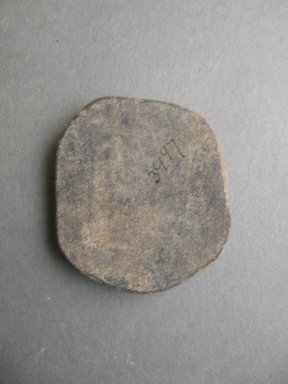 Southwest (unidentified). <em>Disk</em>. Clay, 2 1/4 in. (5.7 cm). Brooklyn Museum, Museum Expedition 1903, Museum Collection Fund, 03.325.3997. Creative Commons-BY (Photo: Brooklyn Museum, CUR.03.325.3997_view2.jpg)