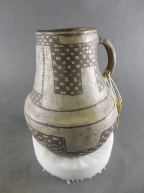 Ancient Pueblo (Anasazi). <em>Pitcher</em>, 900-1300. Clay, slip, 8 x 6 1/4 x 6 1/4 in. (20.3 x 15.9 x 15.9 cm). Brooklyn Museum, Museum Expedition 1903, Museum Collection Fund, 03.325.4162. Creative Commons-BY (Photo: Brooklyn Museum, CUR.03.325.4162.jpg)
