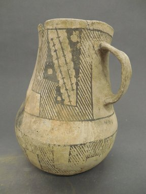 Ancient Pueblo (Anasazi). <em>Pitcher</em>, Probably 900-1100, Pueblo II. Clay, 4 1/2 x 8 1/4 x 3/32 in. (11.4 x 21 x 0.2 cm). Brooklyn Museum, Museum Expedition 1903, Museum Collection Fund, 03.325.4164. Creative Commons-BY (Photo: Brooklyn Museum, CUR.03.325.4164.jpg)