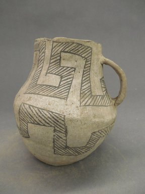 Ancient Pueblo (Anasazi). <em>Pitcher</em>, Probably 900-1100, Pueblo II. Clay, 5 13/16 x 3 1/8 in. (14.8 x 7.9 cm). Brooklyn Museum, Museum Expedition 1903, Museum Collection Fund, 03.325.4167. Creative Commons-BY (Photo: Brooklyn Museum, CUR.03.325.4167_view1.jpg)