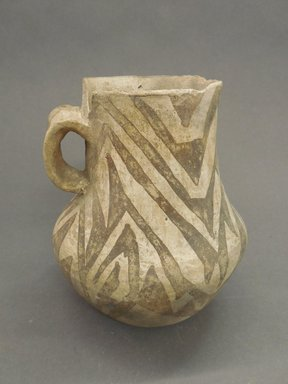 Ancient Pueblo (Anasazi). <em>Pitcher</em>, Probably 1070-1150, Pueblo II. Clay, 6 1/2 x 1/8 x 5 1/2 in. (16.5 x 0.3 x 14 cm). Brooklyn Museum, Museum Expedition 1903, Museum Collection Fund, 03.325.4170. Creative Commons-BY (Photo: Brooklyn Museum, CUR.03.325.4170.jpg)