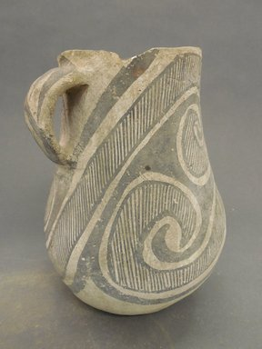 Ancient Pueblo (Anasazi). <em>Decorated Pitcher</em>. Clay, slip, 8 1/2 x 6 1/2 in. (21.6 x 16.5 cm). Brooklyn Museum, Museum Expedition 1903, Museum Collection Fund, 03.325.4176. Creative Commons-BY (Photo: Brooklyn Museum, CUR.03.325.4176.jpg)