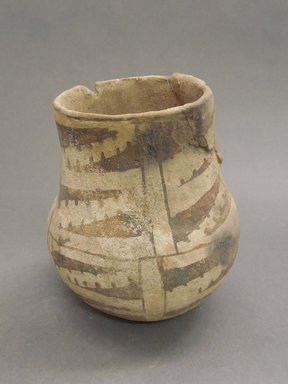 Ancient Pueblo (Anasazi). <em>Pitcher</em>, Probably 1070-1150, Pueblo II. Clay, slip, 4 3/4 x 3 in. (12.1 x 7.6 cm). Brooklyn Museum, Museum Expedition 1903, Museum Collection Fund, 03.325.4185. Creative Commons-BY (Photo: Brooklyn Museum, CUR.03.325.4185.jpg)