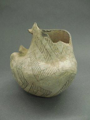 Ancient Pueblo (Anasazi). <em>Pitcher in the Shape of a Bird</em>, Probably 875-1050, Pueblo II. Clay, slip, 5 1/2 x 5 1/2 in (14 x 14 cm). Brooklyn Museum, Museum Expedition 1903, Museum Collection Fund, 03.325.4186. Creative Commons-BY (Photo: Brooklyn Museum, CUR.03.325.4186.jpg)