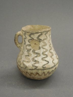 Ancient Pueblo (Anasazi). <em>Miniature Pitcher</em>, 700-900 (probably). Clay, slip, 3 x 2 1/2 x 1 9/16 in (7.6 x 6.4 x 4 cm). Brooklyn Museum, Museum Expedition 1903, Museum Collection Fund, 03.325.4202. Creative Commons-BY (Photo: Brooklyn Museum, CUR.03.325.4202.jpg)