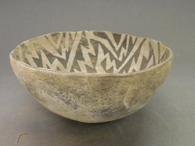 Ancient Pueblo (Anasazi). <em>Bowl</em>, 900-1100 (probably). Clay, 3 1/8 x 6 15/16 in. (7.9 x 17.6 cm). Brooklyn Museum, Museum Expedition 1903, Museum Collection Fund, 03.325.4231. Creative Commons-BY (Photo: Brooklyn Museum, CUR.03.325.4231_view1.jpg)