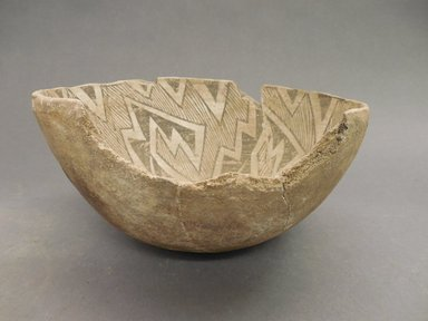Ancient Pueblo (Anasazi). <em>Bowl</em>, 875-1000 (probably). Clay, 4 1/8 x 8 in. (10.5 x 20.3 cm). Brooklyn Museum, Museum Expedition 1903, Museum Collection Fund, 03.325.4258. Creative Commons-BY (Photo: Brooklyn Museum, CUR.03.325.4258_view1.jpg)