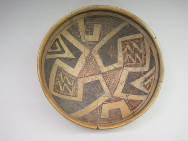 Hopi Pueblo. <em>Decorated Bowl</em>. Ceramic, pigment, 3 7/8 × 9 5/16 × 9 5/16 in. (9.8 × 23.7 × 23.7 cm). Brooklyn Museum, Museum Expedition 1903, Museum Collection Fund, 03.325.4326. Creative Commons-BY (Photo: , CUR.03.325.4326_interior.jpg)