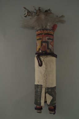 She-we-na (Zuni Pueblo). <em>Kachina Doll</em>, late 19th century. Wood, cotton, pigment, feathers, 8 11/16 in. (22.1 cm). Brooklyn Museum, Museum Expedition 1903, Museum Collection Fund, 03.325.4642. Creative Commons-BY (Photo: Brooklyn Museum, CUR.03.325.4642_front.jpg)