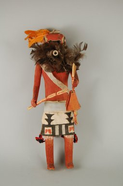 She-we-na (Zuni Pueblo). <em>Kachina Doll (Salamopea Shelowa)</em>, late 19th century. Feathers, hide, wood, (34.0 cm). Brooklyn Museum, Museum Expedition 1903, Museum Collection Fund, 03.325.4668. Creative Commons-BY (Photo: Brooklyn Museum, CUR.03.325.4668_front.jpg)