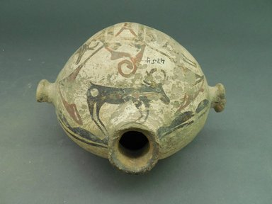 She-we-na (Zuni Pueblo). <em>Canteen with knob handles</em>. Clay, slip, pigment, 8 11/16 x 7 1/16 in (22.0 x 18.0 cm). Brooklyn Museum, Museum Expedition 1903, Museum Collection Fund, 03.325.4754. Creative Commons-BY (Photo: Brooklyn Museum, CUR.03.325.4754_view1.jpg)