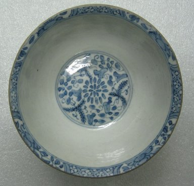 <em>Bowl</em>, 1700-1725. Decorated porcelain, 3 x 5 1/2 in. (7.6 x 14 cm). Brooklyn Museum, Gift of Reverend Alfred Duane Pell, 03.328.65. Creative Commons-BY (Photo: Brooklyn Museum, CUR.03.328.65_top.jpg)
