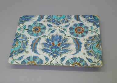 <em>Tile</em>, 17th-18th century. Ceramic, 13 x 1 3/8 x 9 7/16 in. (33 x 3.5 x 24 cm). Brooklyn Museum, Gift of Robert B. Woodward, 03.71. Creative Commons-BY (Photo: Brooklyn Museum, CUR.03.71.jpg)