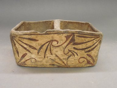She-we-na (Zuni Pueblo). <em>Salt Box (Ma-puu-nai)</em>. Clay, pigment, 7 5/16 x 3 13/16 x 3 3/8in. (18.5 x 9.7 x 8.5cm). Brooklyn Museum, Museum Expedition 1904, Museum Collection Fund, 04.297.5273. Creative Commons-BY (Photo: Brooklyn Museum, CUR.04.297.5273.jpg)