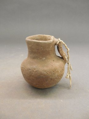 She-we-na (Zuni Pueblo). <em>Pitcher (Ai-mush-tu-nai)</em>. Clay, 2 5/8 x 2 55/8 in. (6.7 x 6. cm). Brooklyn Museum, Museum Expedition 1904, Museum Collection Fund, 04.297.5274. Creative Commons-BY (Photo: Brooklyn Museum, CUR.04.297.5274.jpg)