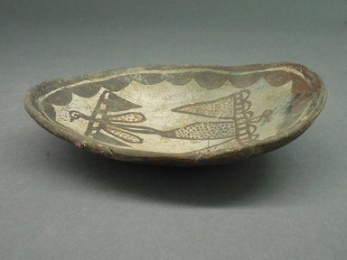 She-we-na (Zuni Pueblo). <em>Ladle (Sat-chok-kun-nai)</em>. Clay,  pigment, 7 x 4 7/6 x 1 3/4 in.  (17.8 x 11.3 x 4.5 cm). Brooklyn Museum, Museum Expedition 1904, Museum Collection Fund, 04.297.5276. Creative Commons-BY (Photo: Brooklyn Museum, CUR.04.297.5276.jpg)