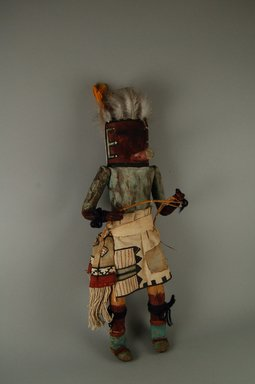 Mau-i (She-we-na (Zuni Pueblo)). <em>Kachina Doll (Thleawalalo)</em>, late 19th-early 20th century. Wood, pigment, feathers, cotton, hide, yarn, plant fiber, 14 1/2 x 6 x 4 in. (36.8 x 15.2 x 10.2 cm). Brooklyn Museum, Museum Expedition 1904, Museum Collection Fund, 04.297.5336. Creative Commons-BY (Photo: Brooklyn Museum, CUR.04.297.5336_front.jpg)