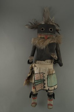 Mau-i (She-we-na (Zuni Pueblo)). <em>Kachina Doll (Heyeyau)</em>, late 19th-early 20th century. Wood, feathers, pigment, fur, cotton, (0.14 x 8.2 x 33.2 cm). Brooklyn Museum, Museum Expedition 1904, Museum Collection Fund, 04.297.5371. Creative Commons-BY (Photo: Brooklyn Museum, CUR.04.297.5371_front.jpg)