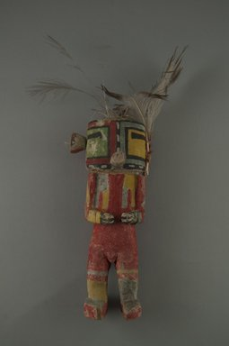 Hopi Pueblo. <em>Kachina Doll (Torik Maalo)</em>, late 19th century. Wood, pigment, feathers, string, yarn, (6.7 x 5.1 x 16.7 cm). Brooklyn Museum, Museum Expedition 1904, Museum Collection Fund, 04.297.5526. Creative Commons-BY (Photo: Brooklyn Museum, CUR.04.297.5526_front.jpg)