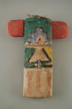 Hopi Pueblo. <em>Kachina Doll</em>, late 19th century. Feathers, pigment, wood, string, (11.8 x 4.1 x 14.6 cm). Brooklyn Museum, Museum Expedition 1904, Museum Collection Fund, 04.297.5536. Creative Commons-BY (Photo: Brooklyn Museum, CUR.04.297.5536_front.jpg)