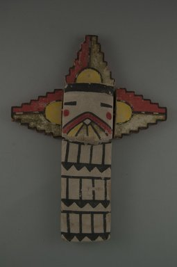 Hopi Pueblo. <em>Kachina Doll (Salako Taka)</em>, late 19th century. Wood, pigment, 7 1/2 x 2 1/4 in. (19.1 x 5.7 cm). Brooklyn Museum, Museum Expedition 1904, Museum Collection Fund, 04.297.5537. Creative Commons-BY (Photo: Brooklyn Museum, CUR.04.297.5537_front.jpg)
