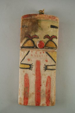 Hopi Pueblo. <em>Kachina Doll (Talano or Talawo [Dawn])</em>, late 19th century. Wood, pigment, string, (7.3 x 4.6 x 17.3 cm). Brooklyn Museum, Museum Expedition 1904, Museum Collection Fund, 04.297.5539. Creative Commons-BY (Photo: Brooklyn Museum, CUR.04.297.5539_front.jpg)