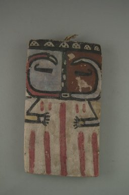 Hopi Pueblo. <em>Kachina Doll (Pika)</em>, late 19th century. Wood, pigment, 6 3/4 x 4 x 1/4 in. (17.1 x 10.2 x 0.6 cm). Brooklyn Museum, Museum Expedition 1904, Museum Collection Fund, 04.297.5540. Creative Commons-BY (Photo: Brooklyn Museum, CUR.04.297.5540_front.jpg)