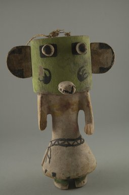 Hopi Pueblo. <em>Kachina Doll (Hon [Bear])</em>, late 19th century. Wood, pigment, string, 5 5/8 x 3 1/16 x 8 3/16in. (14.3 x 7.8 x 20.8cm). Brooklyn Museum, Museum Expedition 1904, Museum Collection Fund, 04.297.5542. Creative Commons-BY (Photo: Brooklyn Museum, CUR.04.297.5542_front.jpg)