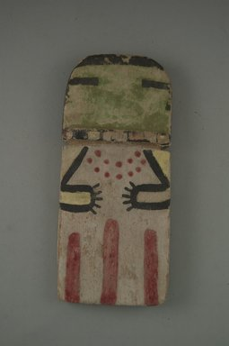Hopi Pueblo. <em>Kachina Doll (Ana)</em>, late 19th century. Wood, pigment, 2 15/16 x 11/16 x 6 5/8in. (7.4 x 1.7 x 16.8cm). Brooklyn Museum, Museum Expedition 1904, Museum Collection Fund, 04.297.5544. Creative Commons-BY (Photo: Brooklyn Museum, CUR.04.297.5544_front.jpg)