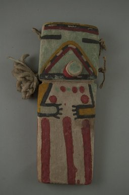 Hopi Pueblo. <em>Kachina Doll (Payatimu or Ana)</em>, late 19th century. Wood, pigment, feather, 7 7/16 x 2 1/4 x 1 9/16 in. (18.9 x 5.7 x 4 cm). Brooklyn Museum, Museum Expedition 1904, Museum Collection Fund, 04.297.5547. Creative Commons-BY (Photo: Brooklyn Museum, CUR.04.297.5547_front.jpg)