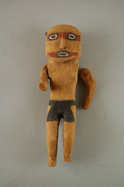 Hopi Pueblo. <em>Kachina Doll</em>, late 19th century. Wood, paint, 5 3/4 x 1 1/2 in. (3.8 x 5.8 x 14.7 cm). Brooklyn Museum, Museum Expedition 1904, Museum Collection Fund, 04.297.5552. Creative Commons-BY (Photo: Brooklyn Museum, CUR.04.297.5552_front.jpg)