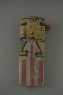 Hopi Pueblo. <em>Kachina Doll (Paalolokang)</em>, late 19th century. Wood, pigment, 6 1/2 × 2 15/16 × 1 11/16 in. (16.5 × 7.5 × 4.3 cm). Brooklyn Museum, Museum Expedition 1904, Museum Collection Fund, 04.297.5555. Creative Commons-BY (Photo: Brooklyn Museum, CUR.04.297.5555_front.jpg)