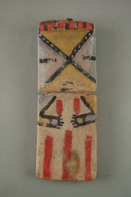 Hopi Pueblo. <em>Kachina Doll</em>, late 19th century. Wood, pigment, 5 7/8 x 2 3/8 x 1/2 in. (14.9 x 6 x 1.3 cm). Brooklyn Museum, Museum Expedition 1904, Museum Collection Fund, 04.297.5557. Creative Commons-BY (Photo: Brooklyn Museum, CUR.04.297.5557_front.jpg)