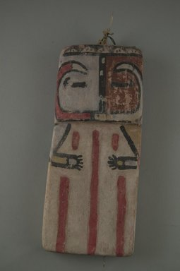 Hopi Pueblo. <em>Kachina Doll (Pika)</em>, late 19th century. Wood, pigment, 7 3/8 x 3 1/4 x 1/2 in. (18.7 x 8.3 x 1.3 cm). Brooklyn Museum, Museum Expedition 1904, Museum Collection Fund, 04.297.5559. Creative Commons-BY (Photo: Brooklyn Museum, CUR.04.297.5559_front.jpg)