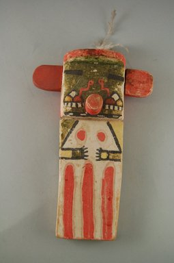 Hopi Pueblo. <em>Kachina Doll</em>, late 19th century. Pigment, wood, feather, string, (14.1 x 6.4 x 21.6 cm). Brooklyn Museum, Museum Expedition 1904, Museum Collection Fund, 04.297.5564. Creative Commons-BY (Photo: Brooklyn Museum, CUR.04.297.5564_front.jpg)