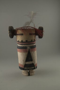 Hopi Pueblo. <em>Kachina Doll (Kalaisa Mana or Qooqoklom)</em>, late 19th century. Wood, pigment, 7 1/2 x 5 1/2 x 2 11/16 in. (19 x 14 x 6.8 cm). Brooklyn Museum, Museum Expedition 1904, Museum Collection Fund, 04.297.5565. Creative Commons-BY (Photo: Brooklyn Museum, CUR.04.297.5565_front.jpg)