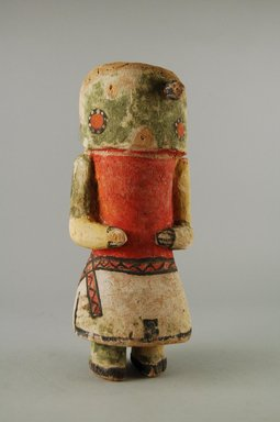 Hopi Pueblo. <em>Kachina Doll (Yoono [Cactus])</em>, late 19th century. Wood, pigment, 3 3/8 x 2 13/16 x 8 1/8in. (8.5 x 7.2 x 20.6cm). Brooklyn Museum, Museum Expedition 1904, Museum Collection Fund, 04.297.5567. Creative Commons-BY (Photo: Brooklyn Museum, CUR.04.297.5567_front.jpg)