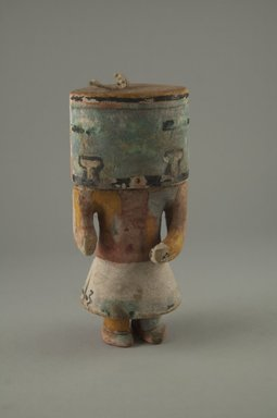 Hopi Pueblo. <em>Kachina Doll (Sikya Chantaka?)</em>, late 19th century. Wood, pigment, string, 2 9/16 x 1 15/16 x 5 7/8in. (6.5 x 5 x 15cm). Brooklyn Museum, Museum Expedition 1904, Museum Collection Fund, 04.297.5568. Creative Commons-BY (Photo: Brooklyn Museum, CUR.04.297.5568_front.jpg)