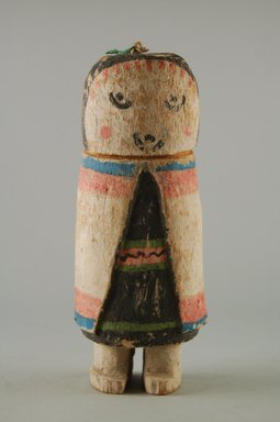 Hopi Pueblo. <em>Kachina Doll (Seo [Zuni] Ana)</em>, late 19th century. Wood, pigment, 7 x 2 3/4 x 2 1/2 in. (17.8 x 7 x 6.4 cm). Brooklyn Museum, Museum Expedition 1904, Museum Collection Fund, 04.297.5570. Creative Commons-BY (Photo: Brooklyn Museum, CUR.04.297.5570_front.jpg)