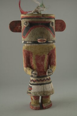 Hopi Pueblo. <em>Kachina Doll (Holi)</em>, late 19th century. Wood, pigment, feathers, string, 5 1/4 x 2 1/2 x 8 11/16in. (13.4 x 6.4 x 22cm). Brooklyn Museum, Museum Expedition 1904, Museum Collection Fund, 04.297.5574. Creative Commons-BY (Photo: Brooklyn Museum, CUR.04.297.5574_front.jpg)