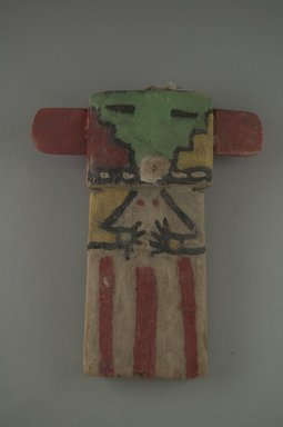 Hopi Pueblo. <em>Kachina Doll</em>, late 19th century. Wood, pigment, string, 5 11/16 x 1 9/16 x 6 3/4in. (14.5 x 4 x 17.2cm). Brooklyn Museum, Museum Expedition 1904, Museum Collection Fund, 04.297.5576. Creative Commons-BY (Photo: Brooklyn Museum, CUR.04.297.5576_front.jpg)