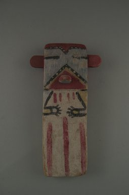 Hopi Pueblo. <em>Kachina Doll (Koa)</em>, late 19th century. Wood, pigment, string, 4 1/4 x 1 5/8 x 7 5/8in. (10.8 x 4.1 x 19.4cm). Brooklyn Museum, Museum Expedition 1904, Museum Collection Fund, 04.297.5577. Creative Commons-BY (Photo: Brooklyn Museum, CUR.04.297.5577_front.jpg)