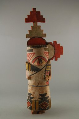 Hopi Pueblo. <em>Kachina Doll</em>, late 19th century. Wood, pigment, 5 1/16 x 2 13/16 x 14 3/8in. (12.8 x 7.2 x 36.5cm). Brooklyn Museum, Museum Expedition 1904, Museum Collection Fund, 04.297.5580. Creative Commons-BY (Photo: Brooklyn Museum, CUR.04.297.5580_front.jpg)