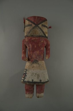 Hopi Pueblo. <em>Kachina Doll</em>, late 19th century. Wood, pigment, string, hair, nail, 3 13/16 x 3 1/8 x 10 7/16in. (9.7 x 8 x 26.5cm). Brooklyn Museum, Museum Expedition 1904, Museum Collection Fund, 04.297.5581. Creative Commons-BY (Photo: Brooklyn Museum, CUR.04.297.5581_front.jpg)